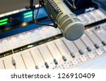 radio station microphone and...