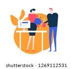 taking a break   flat design... | Shutterstock .eps vector #1269112531