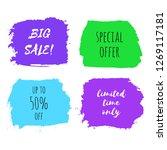 set of big sale  special offer  ...   Shutterstock . vector #1269117181