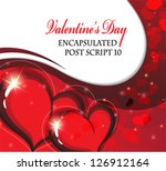 valentine hearts on a sparkling ... | Shutterstock .eps vector #126912164