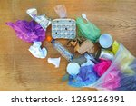 garbage bag with different... | Shutterstock . vector #1269126391