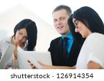 image of confident colleagues... | Shutterstock . vector #126914354