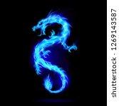 illustration of blue fire... | Shutterstock .eps vector #1269143587