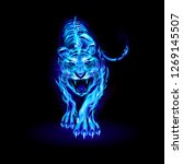 illustration of big blue fire... | Shutterstock .eps vector #1269145507