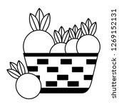 wicker basket with fresh beet   Shutterstock .eps vector #1269152131