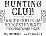 vintage typeface font... | Shutterstock .eps vector #1269161971