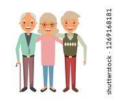 group of old people embraced... | Shutterstock .eps vector #1269168181
