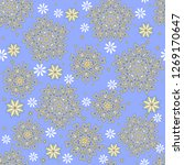 seamless oriental ornamental... | Shutterstock .eps vector #1269170647