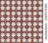 flowers seamless pattern in... | Shutterstock . vector #1269174181