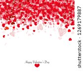 shiny hearts and light... | Shutterstock .eps vector #1269179887
