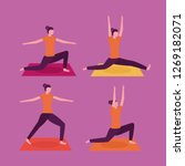 people yoga activity  | Shutterstock .eps vector #1269182071
