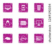 cyberspace threat icons set.... | Shutterstock . vector #1269190354