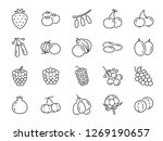 wild berry line icon set.... | Shutterstock .eps vector #1269190657