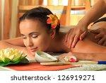 beautiful young woman taking... | Shutterstock . vector #126919271