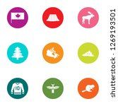canadian forest icons set. flat ... | Shutterstock . vector #1269193501