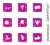 narrative icons set. grunge set ... | Shutterstock . vector #1269197167