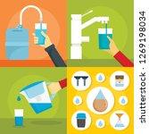 home filter water banner set.... | Shutterstock . vector #1269198034