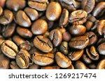 coffee beans  close up | Shutterstock . vector #1269217474