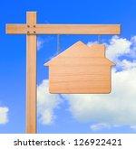 real estate sign sky background ... | Shutterstock . vector #126922421