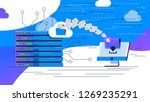 vector image of data center ... | Shutterstock .eps vector #1269235291
