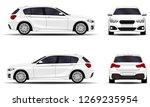 realistic car. hatchback. front ... | Shutterstock .eps vector #1269235954