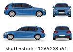 realistic car. hatchback. front ... | Shutterstock .eps vector #1269238561