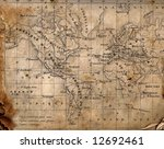 ancient map of the world. the... | Shutterstock . vector #12692461