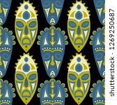 seamless pattern. tribal... | Shutterstock .eps vector #1269250687