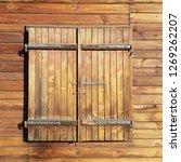 window closed by wooden...   Shutterstock . vector #1269262207