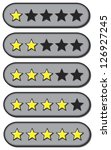 Star ratings for review from one to five stars - stock vector