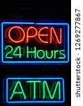casino neon lights at night | Shutterstock . vector #1269277867