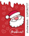 colorful cards for christmas.... | Shutterstock . vector #1269282727