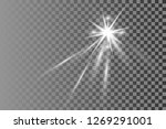 white glowing light burst... | Shutterstock .eps vector #1269291001