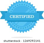certified medal icon. approved... | Shutterstock .eps vector #1269292141