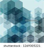 vector abstract geometric... | Shutterstock .eps vector #1269305221
