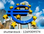 the european central bank is... | Shutterstock . vector #1269309574