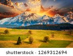polish mountains tatry at sunset | Shutterstock . vector #1269312694