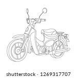 motorbike black outline... | Shutterstock .eps vector #1269317707