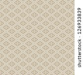 Retro seamless pattern.  Beige wallpaper abstract. Vector background. - stock vector