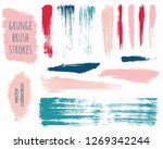 paint lines grunge collection.... | Shutterstock .eps vector #1269342244