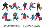 character set of various people ... | Shutterstock .eps vector #1269342607