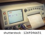 close up fetal monitor or non... | Shutterstock . vector #1269346651