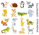Stock vector vector illustration of cartoon animals collection 1269347791