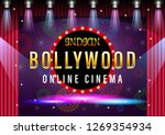 indian gold bollywood online... | Shutterstock .eps vector #1269354934
