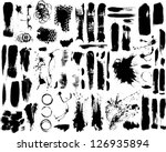 brush strokes and paint... | Shutterstock .eps vector #126935894