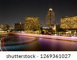 chao phraya river and light...   Shutterstock . vector #1269361027