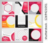 9 slides unique editable modern ... | Shutterstock .eps vector #1269421051