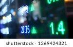 display of stock market quotes | Shutterstock . vector #1269424321