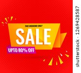 sale banner yellow design | Shutterstock .eps vector #1269428587