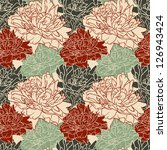 floral seamless pattern with... | Shutterstock .eps vector #126943424